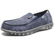 Hey Dude Farty Navy Grey Canvas Men Shoes